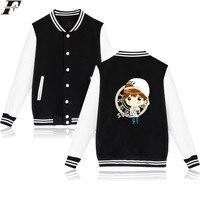 LUCKYFRIDAYF BTS Kpop Baseball Jacket Sweatshirt Men Hoodies Winter Popular Bangtan Hip Hop Hoodies Men Funny