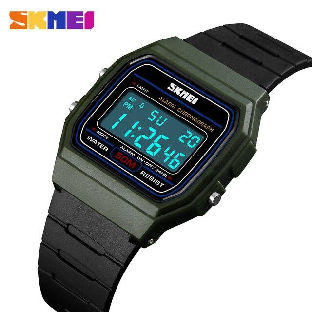 3672fd45bf3 Moda Retro Relógios Das Mulheres Dos Homens de Esportes Do Miúdo Colorido  Relógio Eletrônico Digital LED