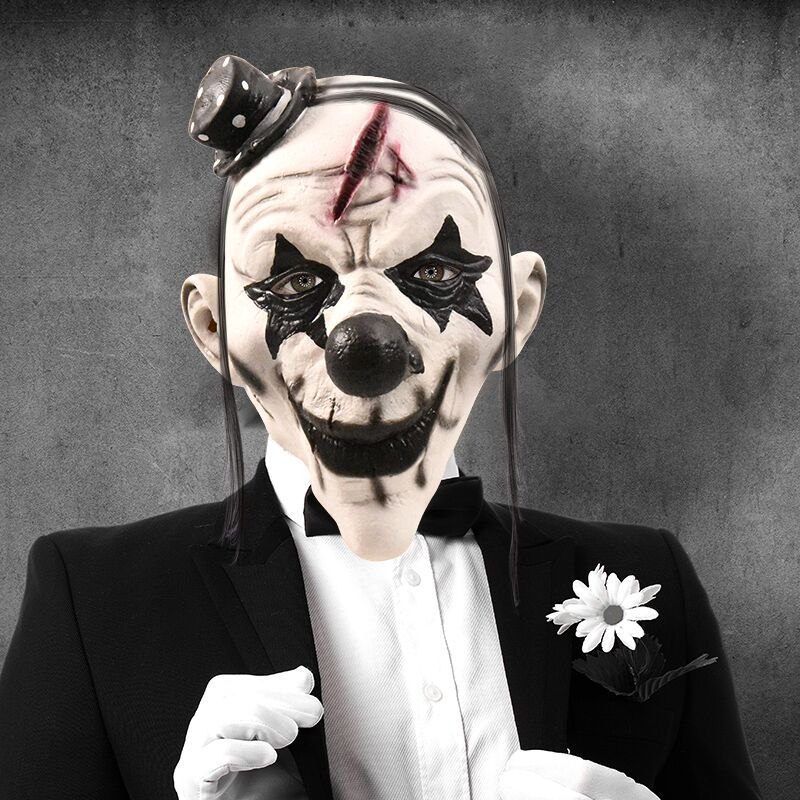 Halloween Horror Clown Mask for Women Men Scary Masquerade Costumes Props