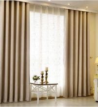 good quality hangs well 900g meter flax Blackout curtains for living room solid thick linen window