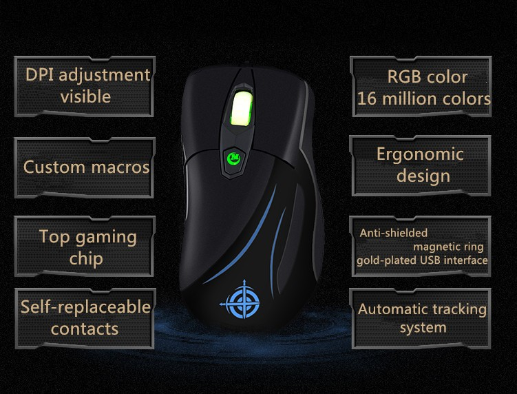 Hongsund MG3 Wired Optical Lights USB PC Computer Laptop Gamer Game Gaming Mouse Mice IE3.0 upgrade IO1.1CF CS LOL Gaming Mouse 65