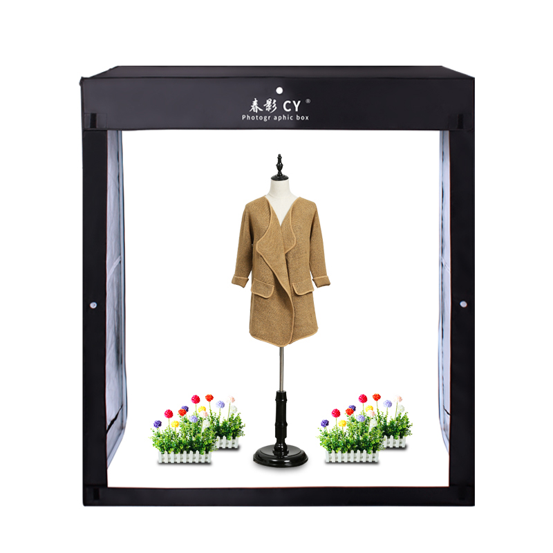 CY LED Professional Portable Softbox Box 140x120x50cm LED Photo Studio Video Lighting Tent for Trolley case children's clothes-in Photo Studio Accessories from Consumer Electronics    1
