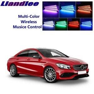 Liandlee dla Mercedes Benz MB CLA klasa samochodu w pełnym kolorze doprowadziły blask wnętrza samochodu zestaw pod Dash stóp piętro siedzenia oświetlenie akcentujące