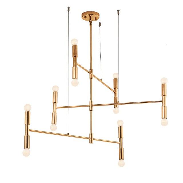12 head Modern Chandelier Light E14 Bulb LED Pendant Lamp artistic sphere gold color plating metal body Dia.120cm hanging light