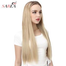 """Сарла 200 шт./лот 24 """"Длинные прямые u-часть клип в полный голову волос высокое температура волокно синтетические шиньоны UH16"""