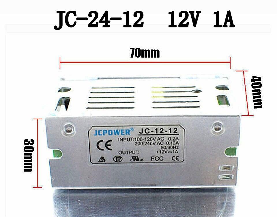 50 pcs/pack 12 V 1A 12 W interrupteur alimentation pilote pour LED bande lumineuse
