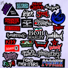 DIY Patch Rock Band Patches For Clothing Iron On Metal Bands Punk Stripes Clothes Embroidered Badges Stickers