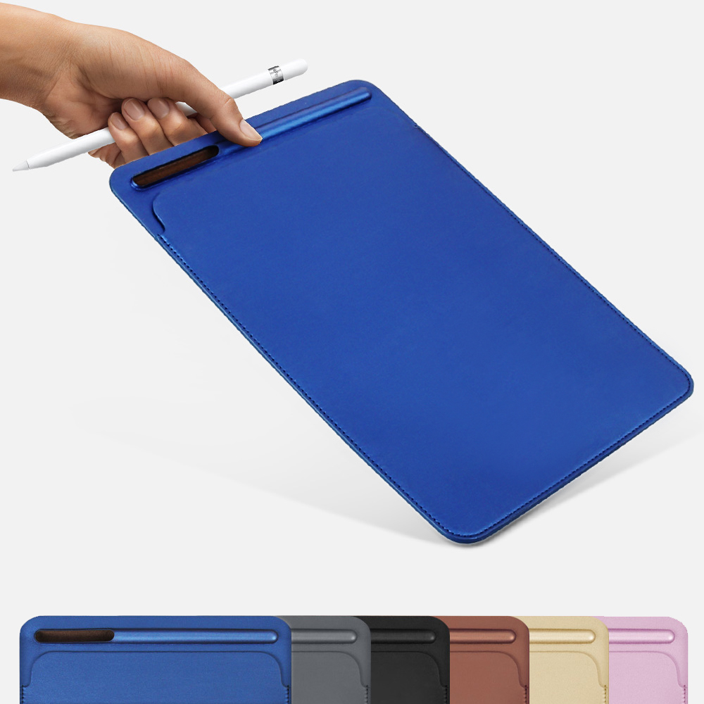 Premium PU pocket sleeves case with pencil slot design for iPad Pro 9.7 10.5, cover for new iPad Pro 11 A1980 / A1934