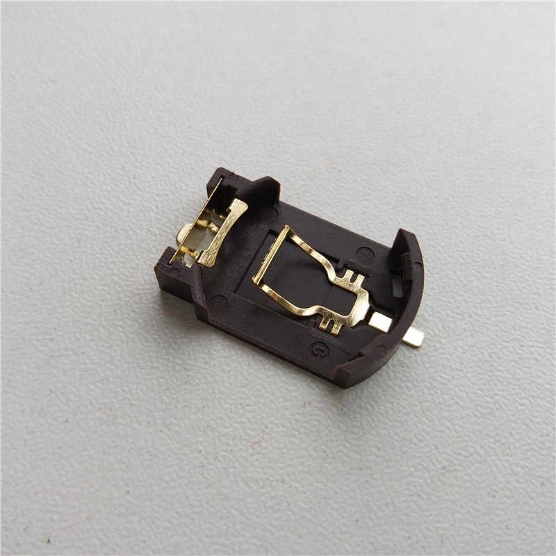 20 chiếc CR2032 Pin đồng xu tế bào giữ BS8 môi trường mạ vàng mạ vàng kim loại dán cường lực kéo dài thời gian