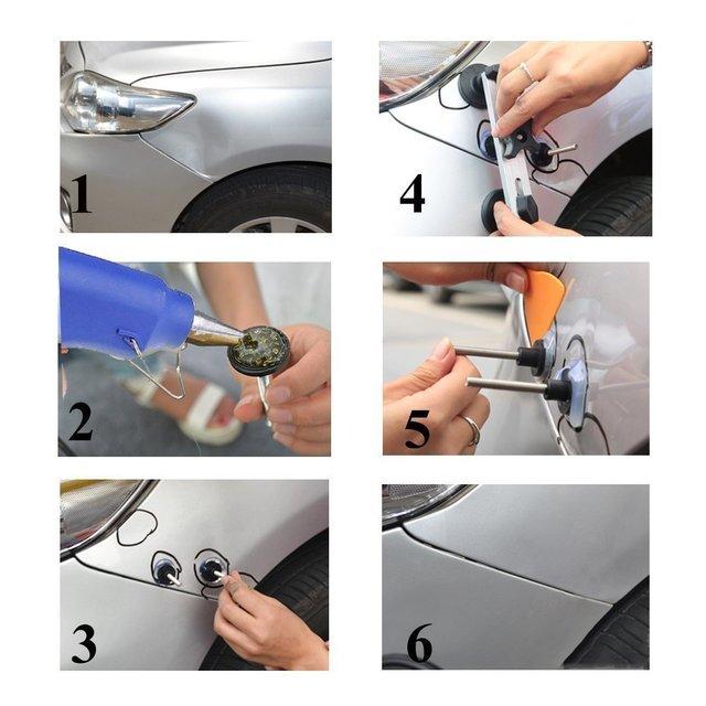 new PDR Tools Paintless Dent Repair Kit Car Dent Repair Dent Puller Removal Tools Pulling bridge