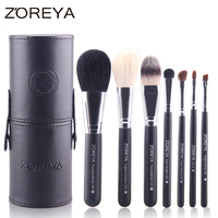 2016 Hot Selling ZOREYA Brand 7pcs Super Soft Makeup Brush Set With Barrel Colorful Cosmetics As