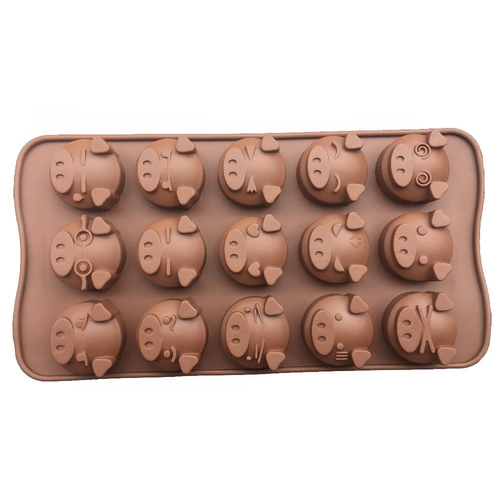 1 82 Mignon Cochons Forme Glacon Moule Outils De Cuisson Silicone Fondant Pate Moule Decorer Polymere Argile Resine Bonbons Fimo Super Sculpey In