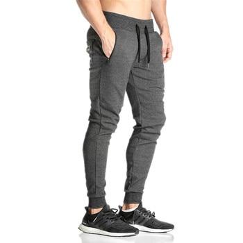 2019 Men Gyms Joggers Pants Casual Elastic Cotton Mens Fitness Workout Pants Skinny Sweatpants Trousers Jogger Pants 1
