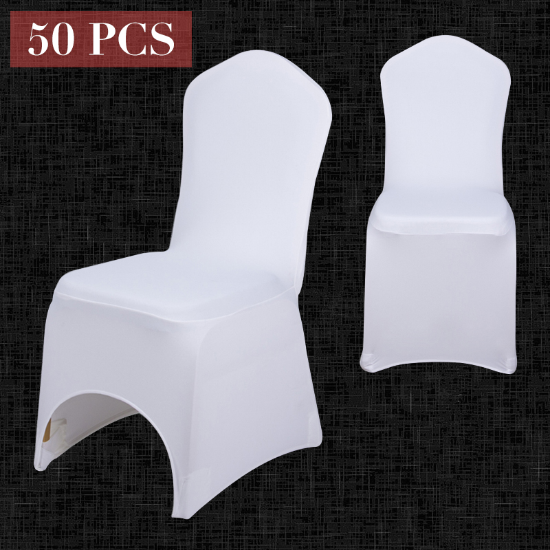 50pcs Wholesale Universal White Chair Cover Spandex