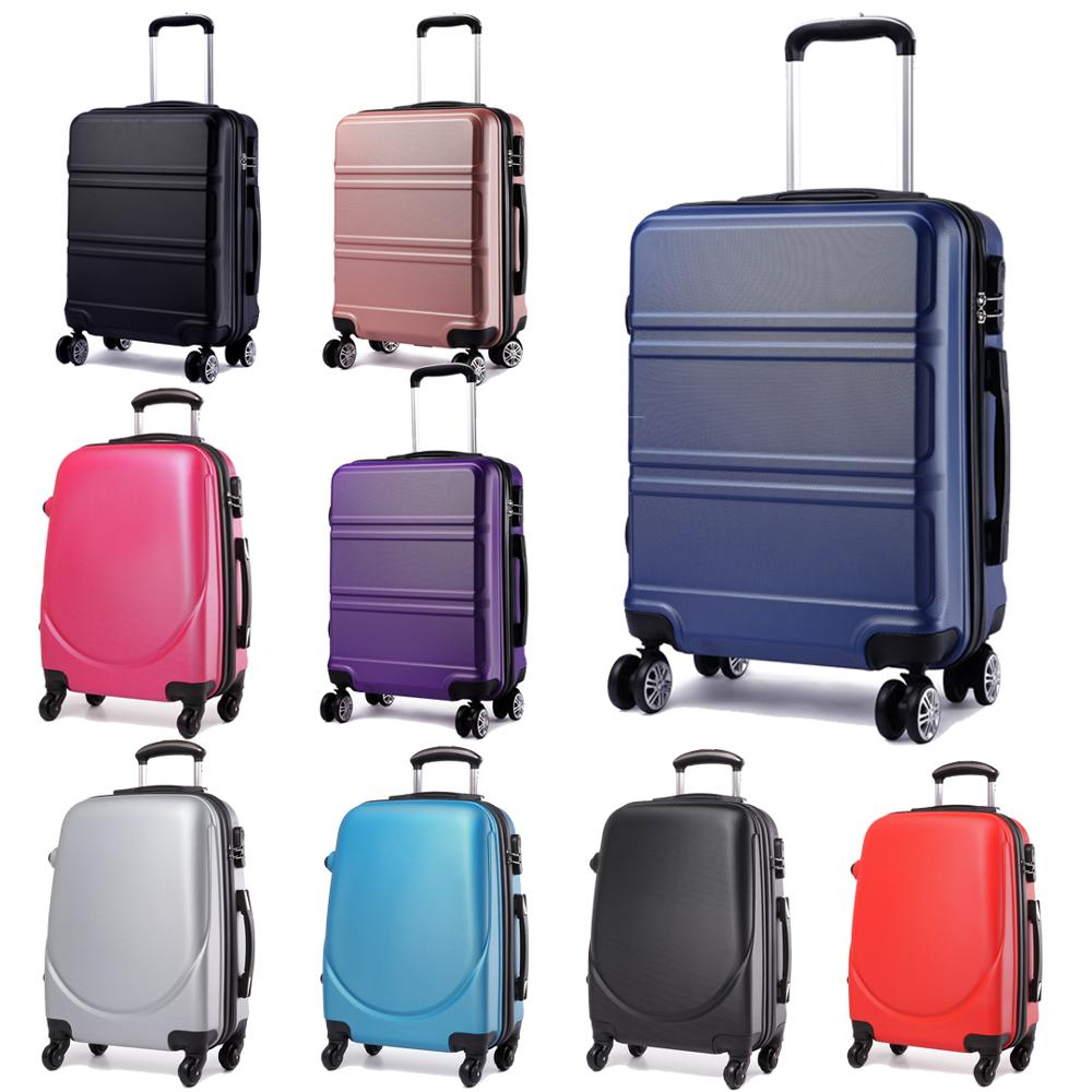Lightweight Cabin Luggage Us 58 99 Kono Lightweight Cabin Hand Luggage Suitcase Travel Bag Carry On Trolley Case Hard Shell Abs 4 Wheels Spinner 20