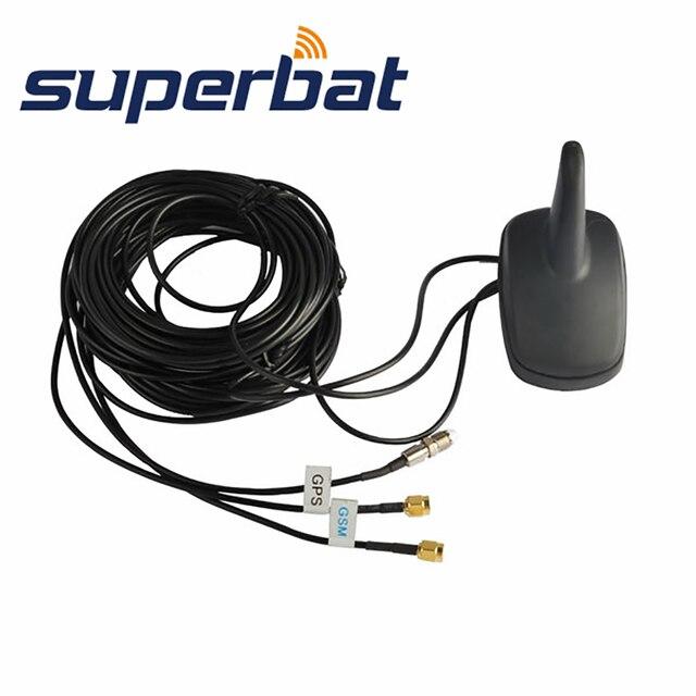 Superbat רכב רב להקת בשילוב אנטנת סנפיר כריש גג הר GPS + GSM + WIFI SMA FME Pinside מחבר RG174 3 M כבל עמיד