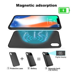 Image 3 - ZKFYS 5000mAh Wireless Charging Magnetic Battery Case For iPhone X XS Battery Charger Cases Backup Power Bank Charging Cover