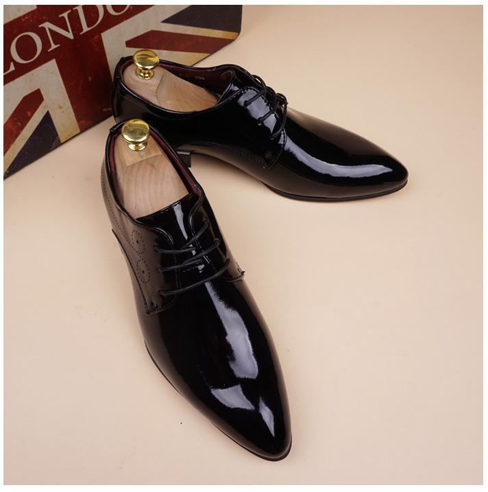 Chaussures Souliers Hommes Vintage Oxford En Cuir Verni
