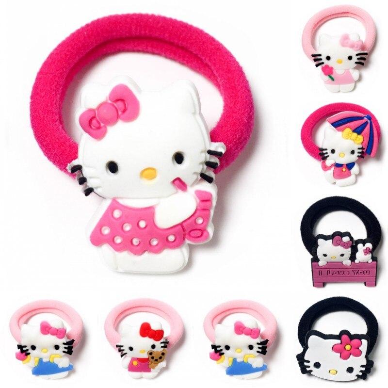 Girls' Clothing 1pcs Hello Kitty Cat Girls Headwear Children Hair Accessories Hair Elastic Hair Bands Accesorios Para El Cabello Nylon Head Band Accessories