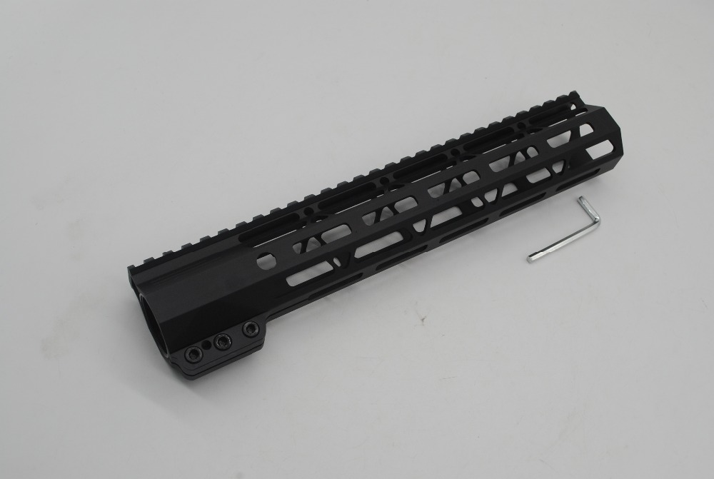 TriRock 11'' inch M-lok Clamping Style Handguard Picatinny Rail Mount Free Float System Black Anodized Fit .223/5.56 AR-15 quik lok rs513