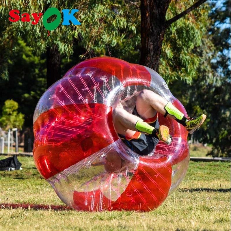 1.8m Inflatable Bubble Soccer 0.8mm PVC Air Bumper Ball Body Zorb Ball Bubble Football Bubble Soccer Ball For Sale