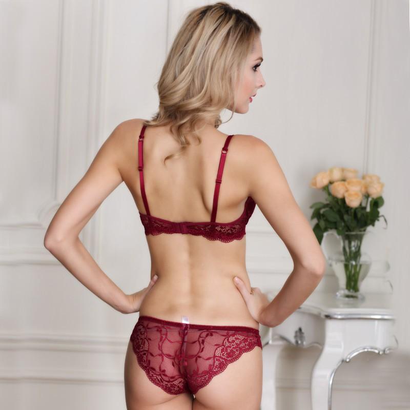 Newest Women Lingerie Sexy Lace Bra Set Transparent Sexy Push Up Bra Women Underwear Sexy Bra&Panty Sets 20
