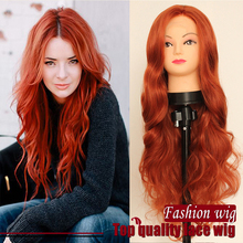 Orange Body Wave Lace Front Wig High Quality Synthetic Lace Front Wig Heat Resistant Fiber Hair For Women Cosplay Wig