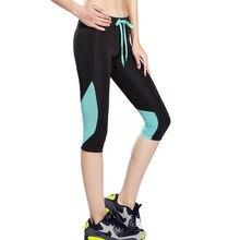BESGO Yoga Leggings Women High Elasticity Sports Cropped Pants Quick Dry Gym Running Patchwork Capris Fitness Yoga Female Tight