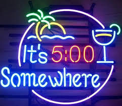 ITS 500 SOMEWHERE Glass Neon Light Sign Beer Bar