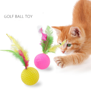 [MPK Store] Buy any 3 (10) items get 30% (40%) off! Cat Toy, Cat Golf Ball with Feather pillow(China)
