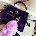 Кролик меха cham пушистые лаванды фиолетовый Кролик Мешок шарма Куклы брелок Кролика брелок Рюкзак кошелек Кулон оптовой подарок