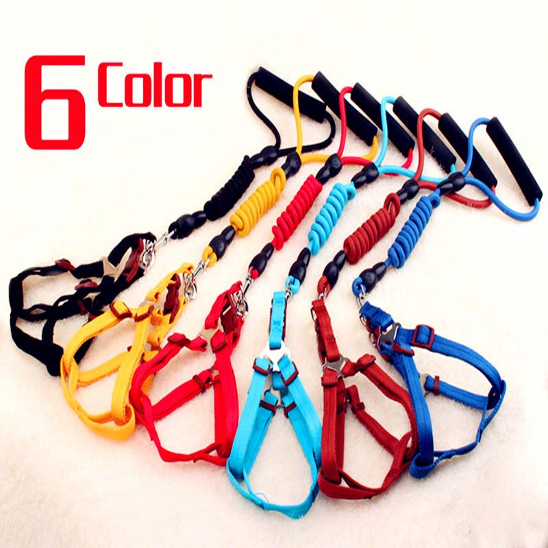 Multi colors Dog Harness And Leash Set 120cm Long Durable Nylon Dog Leash Pet Walking Lead XS/S/M/L