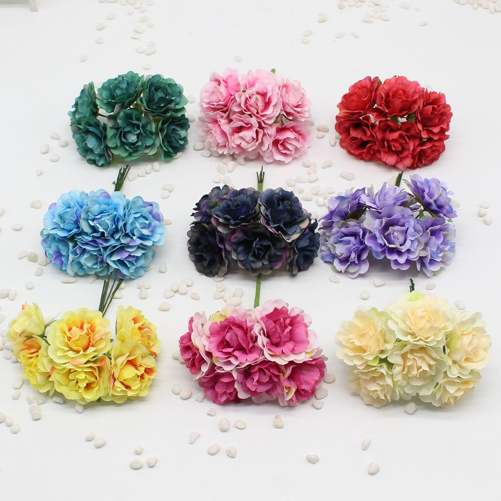 New 6 pieces of 4 5 cm handmade silk tree peony artificial flower wedding  party home hat shoes decoration diy wedding wreath pla. Online Get Cheap Handmade Decoration Pieces  Aliexpress com