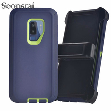 Shockproof Armour Phone Case for Samsung Galaxy S9 TPU Hybrid Defender Back Cover case For S9Plus Anti-Scratch Coque