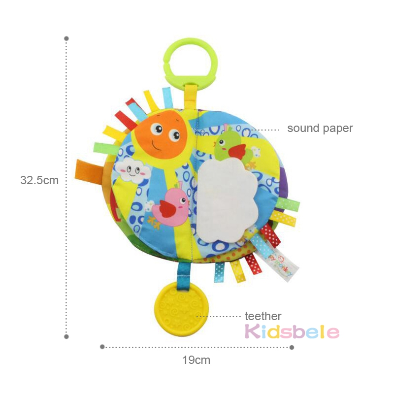 Image 2 - Baby Educational Toys Cloth Book Rustling Coloring Early Learning Toys For Children Toddler Toys 0 12 24 Months Hanging Baby Toy-in Baby Rattles & Mobiles from Toys & Hobbies