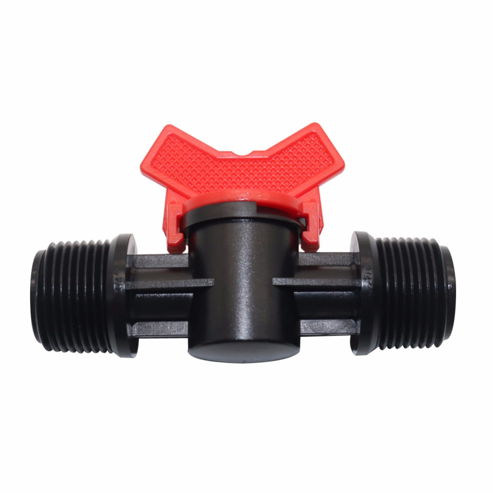 5 Pcs Plastic Coupling Pipe Irrigation Hose Switch Valve 3 models Switches Garden Watering Supplies External thread(China)