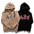 FOUR TWO FOUR 424 FAIRFAX Fear of God Cotton Hoodies Hip Hop Palace Skateboard Sweartshirt Off White Yeezys Thrasher 424 Hoodie