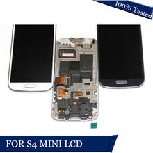 LCDS Para Samsung Galaxy S4 Mini I9190 i9192 i9195 Display LCD Touch Screen Digitador com Moldura de Substituição de Vidro