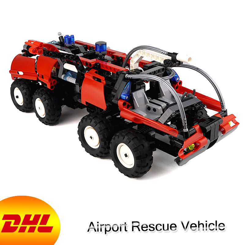 HF Technic Figures 1180Pcs Airport Rescue Vehicle Model Building Kits Blocks Bricks Toys For Children Gift Compatible With 42068