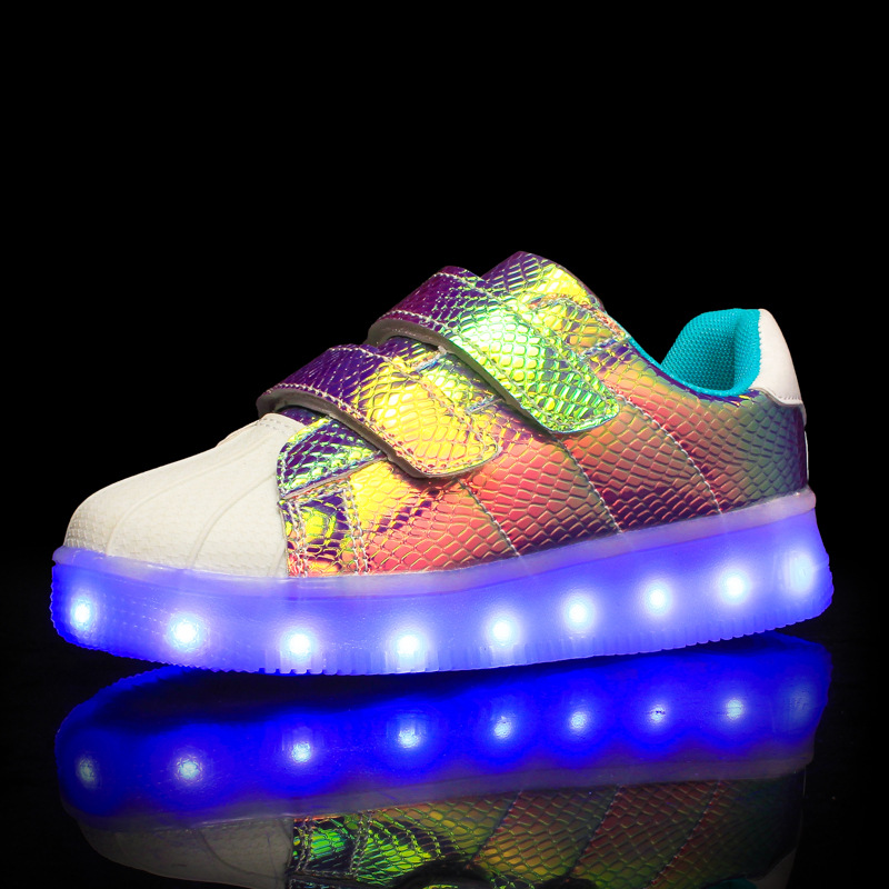 New USB Charger LED Kids Shoes Luminous Sneakers Kids Flat Shoes Boys Girls Glowing Sneakers for Children enfant zapatillas led children usb charger luminous shoes lace boys girls led light sneakers fashion kids night show casual shoes brand