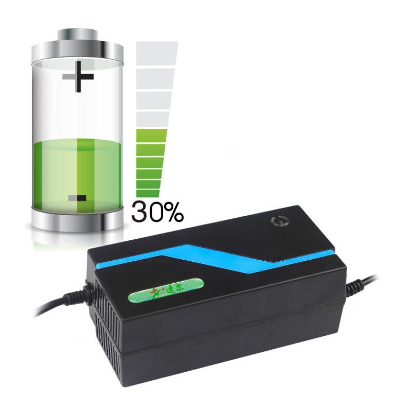 LED Repair Smart 60V 20AH Lead Acid battery charger for E bike Lood zuur Oplaadbare batterijen