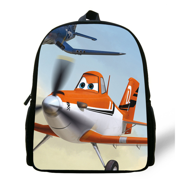 042c46e945 12 inch Little Boys Bag Children Backpacks Cartoon Planes Dusty Bag School Kids  Bags Aged 1