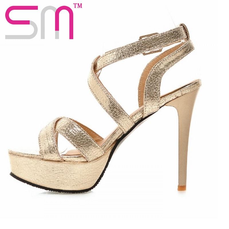 Gladiator Sandals High Heels Summer font b Shoes b font Woman Sexy Open toe font b