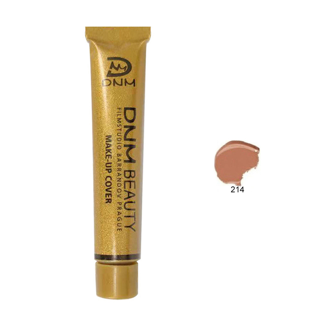 DNM Waterproof Make Up Concealer Dark circles Foundation Cream Liquid Lasting Small Gold Tube Contouring Makeup maquiagem TSLM2 3