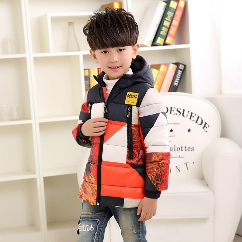 New Children Jackets For Boys Winter 90% White Duck Down Jacket boys Coats Hooded Parkas Long-Sleeve Patchwork Kids Outerwear buenos ninos thick winter children jackets girls boys coats hooded raccoon fur collar kids outerwear duck down padded snowsuit