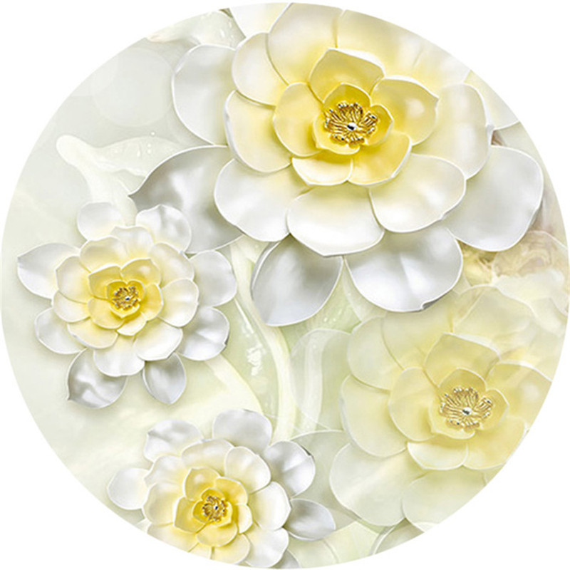 Colorful White Flower Wall Decor Image Collection - Wall Art Design ...