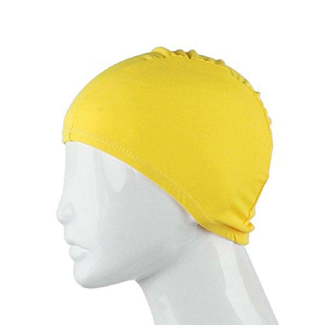 Adult Swimming Hats Unisex Outdoor Sports Stretch Cap Yellow Rose Red
