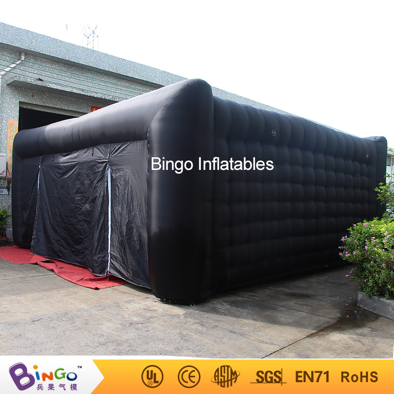 Free Shipping Cube shape black outside white inside type 7X7X3.5 meters inflatable camping party tent for discount toy tent free shipping inflatable house shaped cube tent with window for events toy tent