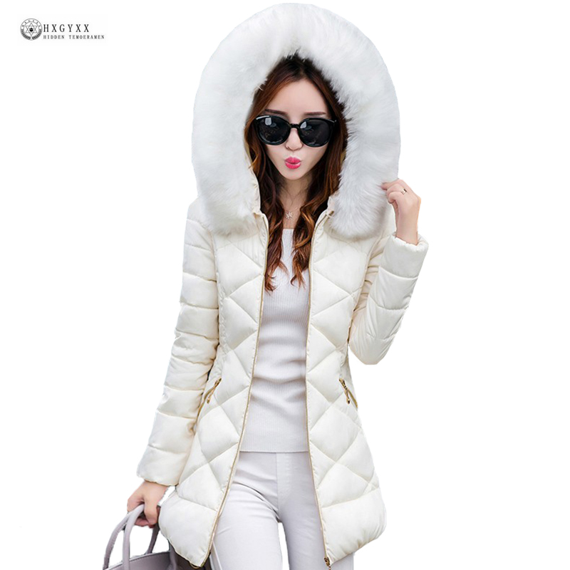 Ukraine Special Offer Winter Jacket Women 2019 Elegant Pure Color Hooded Warm Cotton Coat High Quality
