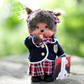 20cm Fashion School Uniform Girl Doll Kawaii Monkiki Plush Doll Toys Soft stuffed Baby Toy Kids Girl Birthday Gift